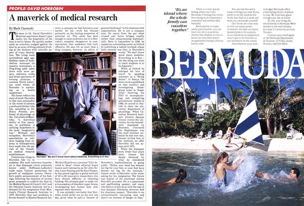Article Preview: A maverick of medical research, May 1982 | Maclean's