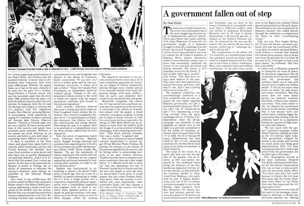 Article Preview: A government fallen out of step, May 1982 | Maclean's