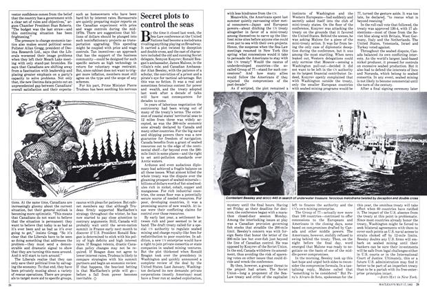 Article Preview: Secret plots to control the seas, May 1982   Maclean's