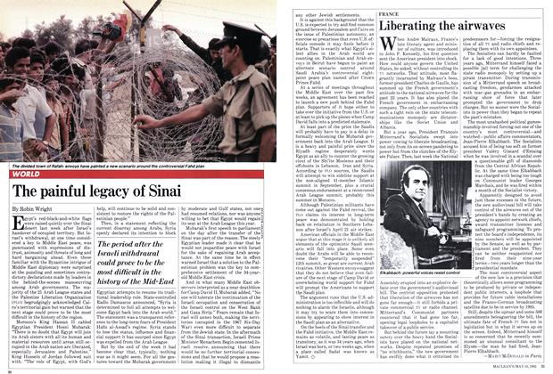 Article Preview: The painful legacy of Sinai, May 1982 | Maclean's