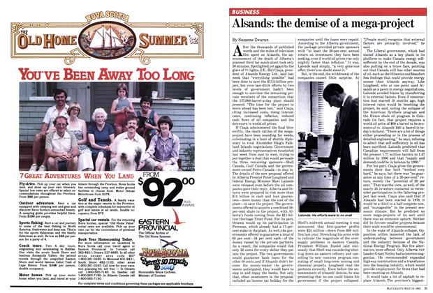 Article Preview: Alsands: the demise of a mega-project, May 1982 | Maclean's