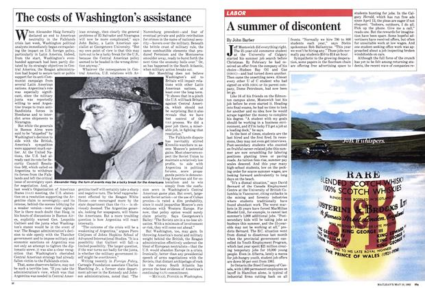 Article Preview: A summer of discontent, May 1982 | Maclean's