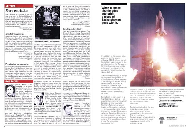 Article Preview: More patriation, May 1982 | Maclean's