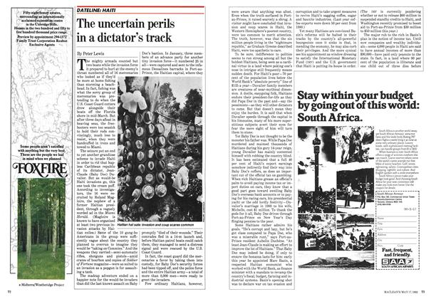 Article Preview: The uncertain perils in a dictator's track, May 1982 | Maclean's