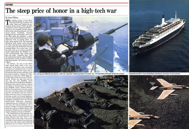 Article Preview: The steep price of honor in a high-tech war, May 1982 | Maclean's