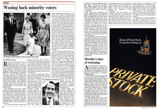 Article Preview: Wooing back minority voters, May 1982 | Maclean's