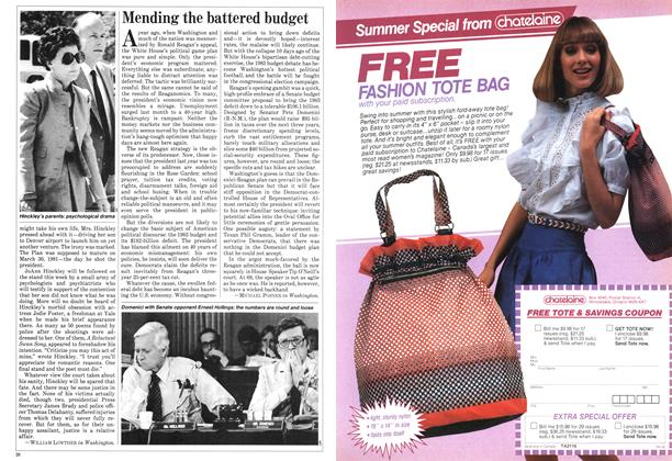 Article Preview: Mending the battered budget, May 1982 | Maclean's