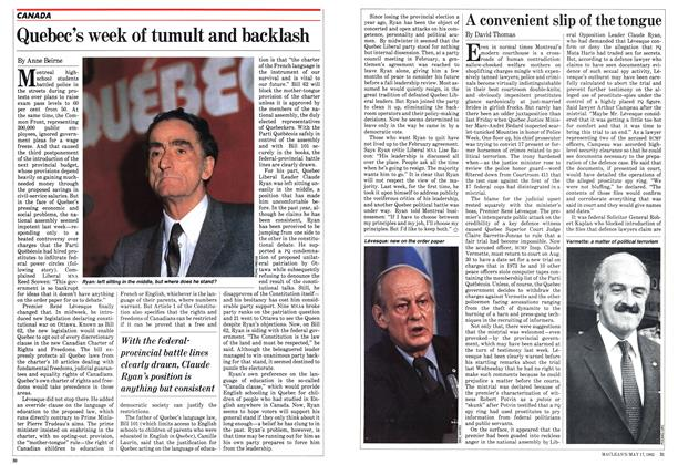 Article Preview: A convenient slip of the tongue, May 1982 | Maclean's