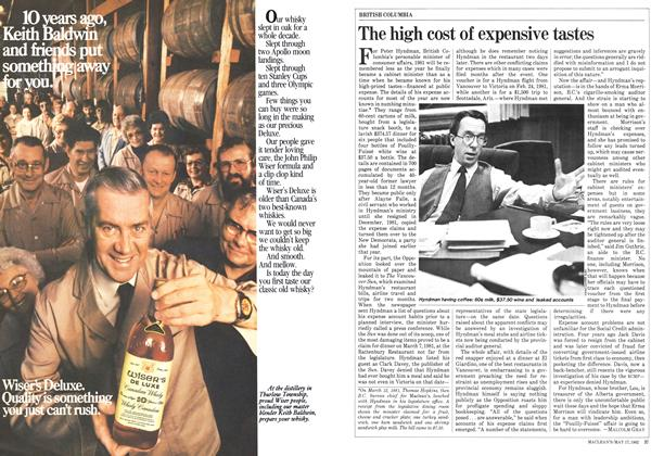 Article Preview: The high cost of expensive tastes, May 1982 | Maclean's