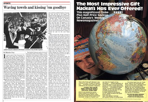 Article Preview: Waving towels and kissing 'em goodbye, May 1982 | Maclean's