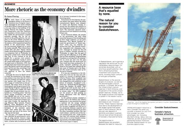 Article Preview: More rhetoric as the economy dwindles, May 1982 | Maclean's
