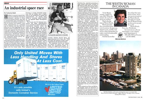 Article Preview: An industrial space race, May 1982 | Maclean's