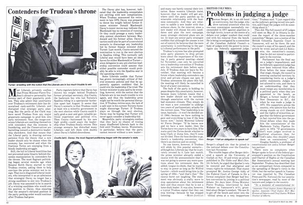 Article Preview: Contenders for Trudeau's throne, May 1982 | Maclean's