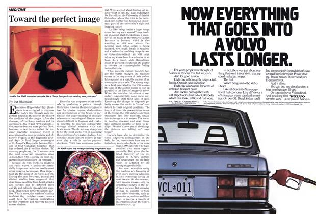 Article Preview: Toward the perfect image, May 1982 | Maclean's