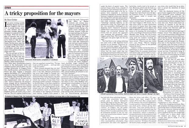 Article Preview: A tricky proposition for the mayors, May 1982 | Maclean's
