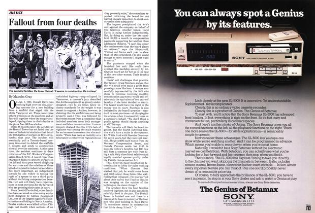 Article Preview: Fallout from four deaths, May 1982 | Maclean's