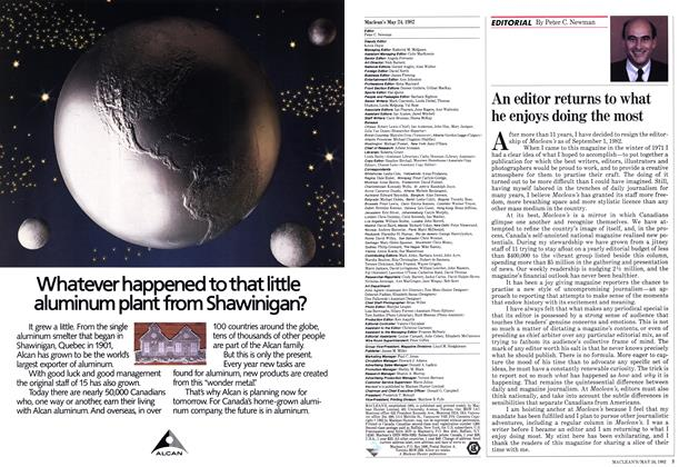 Article Preview: An editor returns to what he enjoys doing the most, May 1982 | Maclean's