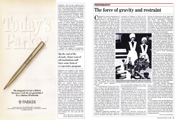 Article Preview: The force of gravity and restraint, May 1982 | Maclean's
