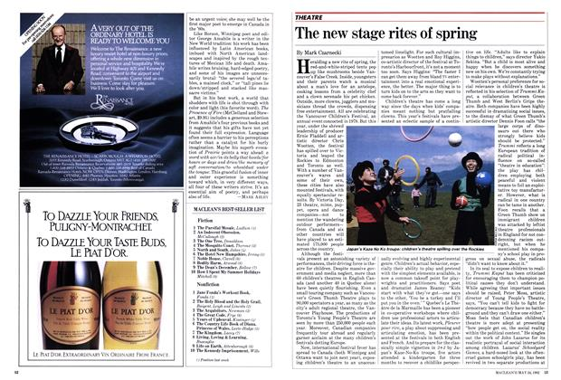 Article Preview: The new stage rites of spring, May 1982 | Maclean's