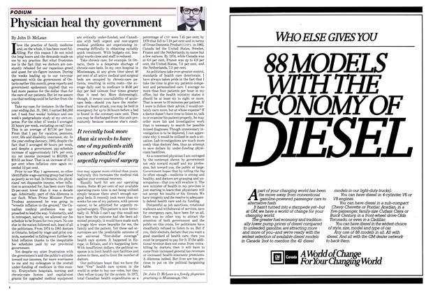 Article Preview: Physician heal thy government, May 1982 | Maclean's