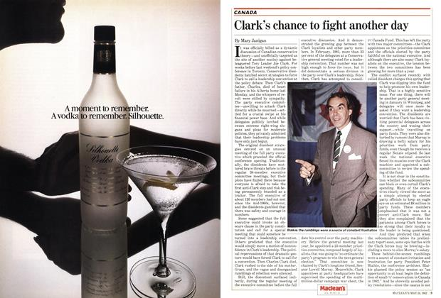 Article Preview: Clark's chance to fight another day, May 1982 | Maclean's