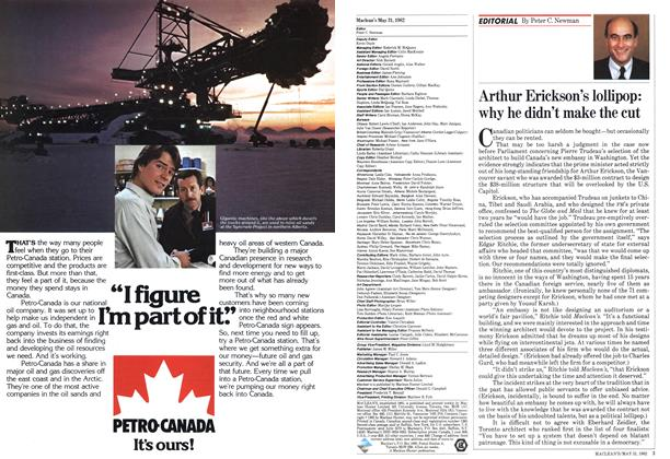 Article Preview: Arthur Erickson's lollipop: why he didn't make the cut, May 1982 | Maclean's