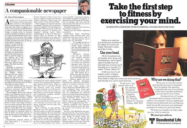 Article Preview: A companionable newspaper, May 1982 | Maclean's