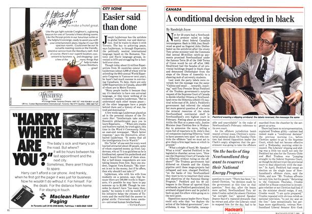 Article Preview: A conditional decision edged in black, May 1982 | Maclean's