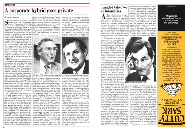 Article Preview: A corporate hybrid goes private, June 1982 | Maclean's