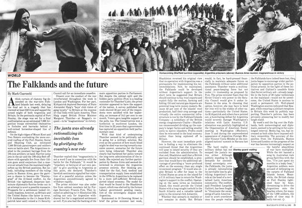 Article Preview: The Falklands and the future, June 1982 | Maclean's