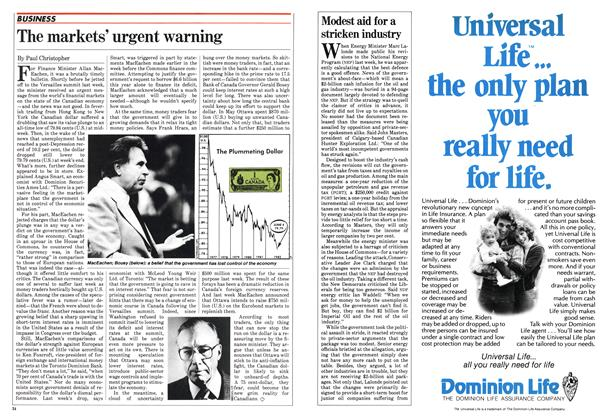 Article Preview: Modest aid for a stricken industry, June 1982 | Maclean's