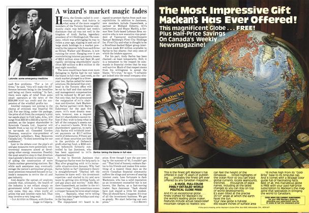 Article Preview: A wizard's market magic fades, June 1982 | Maclean's