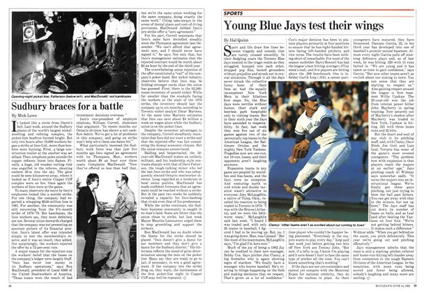 Article Preview: Young Blue Jays test their wings, June 1982 | Maclean's