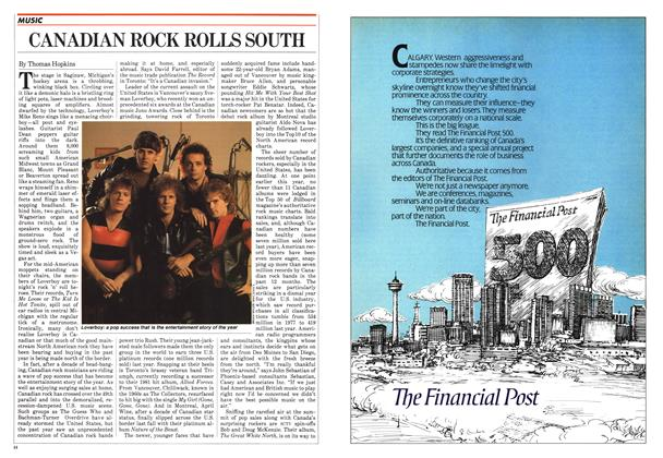 Article Preview: CANADIAN ROCK ROLLS SOUTH, June 1982 | Maclean's