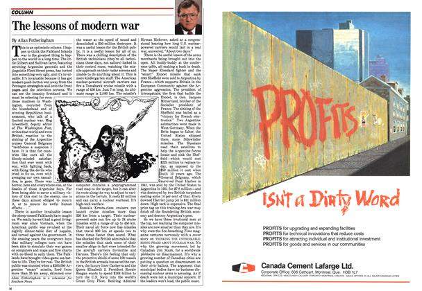 Article Preview: The lessons of modern war, June 1982 | Maclean's