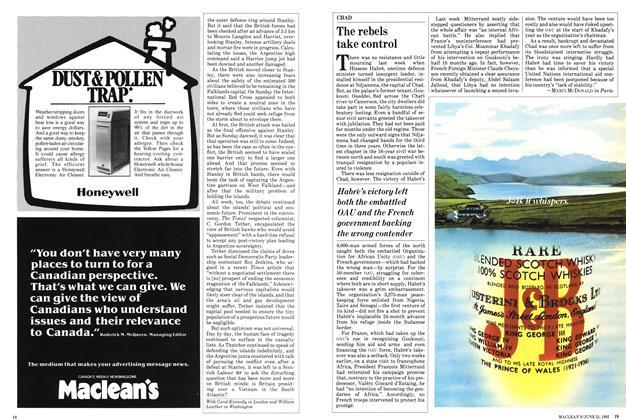 Article Preview: The rebels take control, June 1982 | Maclean's
