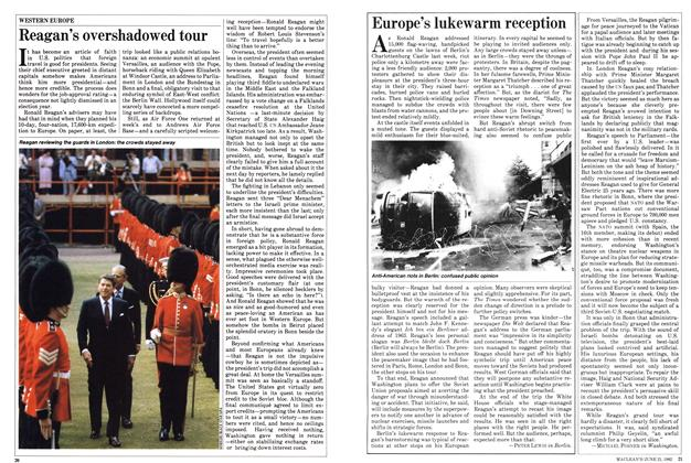 Article Preview: Europe's lukewarm reception, June 1982 | Maclean's
