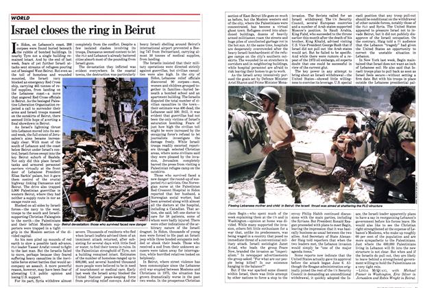 Article Preview: Israel closes the ring in Beirut, June 1982 | Maclean's