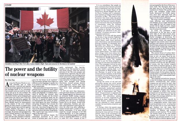 Article Preview: The power and the futility of nuclear weapons, June 1982 | Maclean's