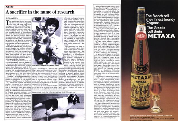 Article Preview: A sacrifice in the name of research, June 1982 | Maclean's