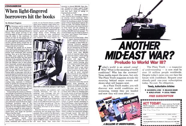 Article Preview: When light-fingered borrowers hit the books, June 1982 | Maclean's