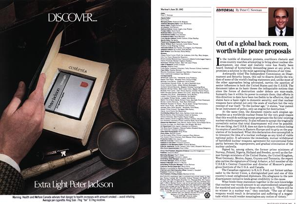 Article Preview: Out of a global back room, worthwhile peace proposals, June 1982 | Maclean's