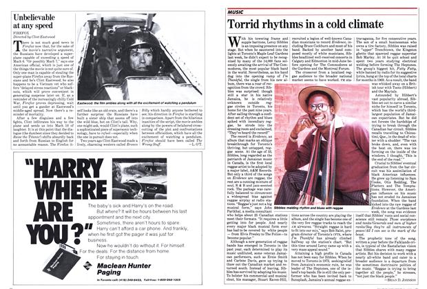 Article Preview: Torrid rhythms in a cold climate, June 1982 | Maclean's