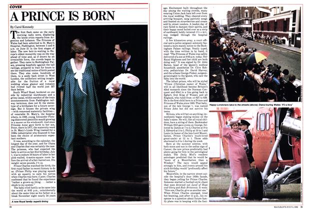 Article Preview: A PRINCE IS BORN, July 1982 | Maclean's