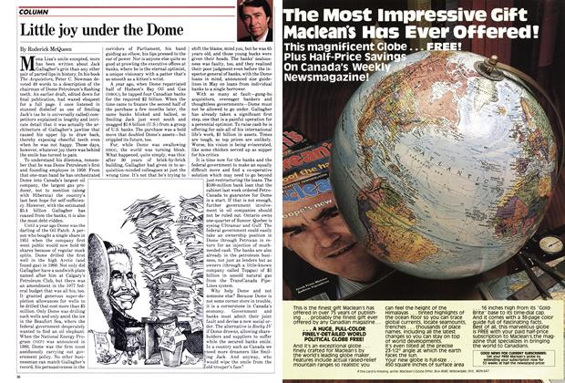 Article Preview: Little joy under the Dome, July 1982 | Maclean's