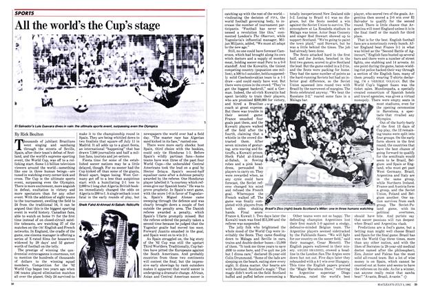 Article Preview: All the world's the Cup's stage, July 1982 | Maclean's