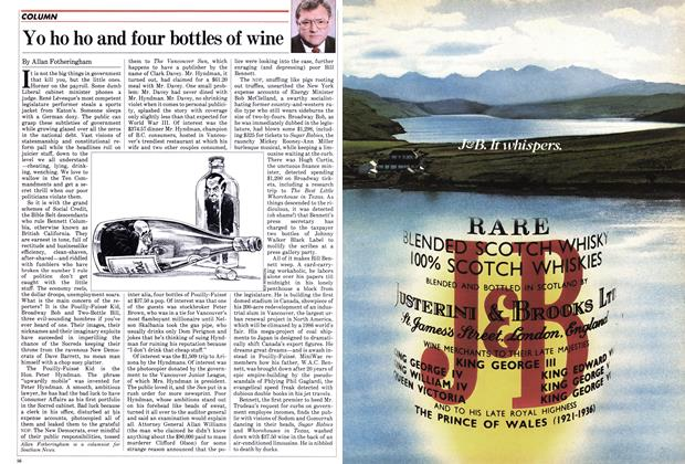 Article Preview: Yo ho ho and four bottles of wine, July 1982 | Maclean's