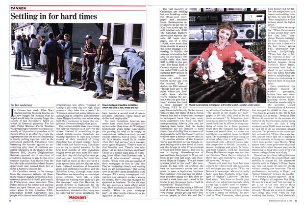 Article Preview: Settling in for hard times, July 1982 | Maclean's
