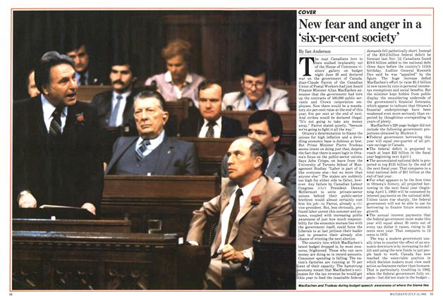 Article Preview: New fear and anger in a 'six-per-cent society', July 1982 | Maclean's