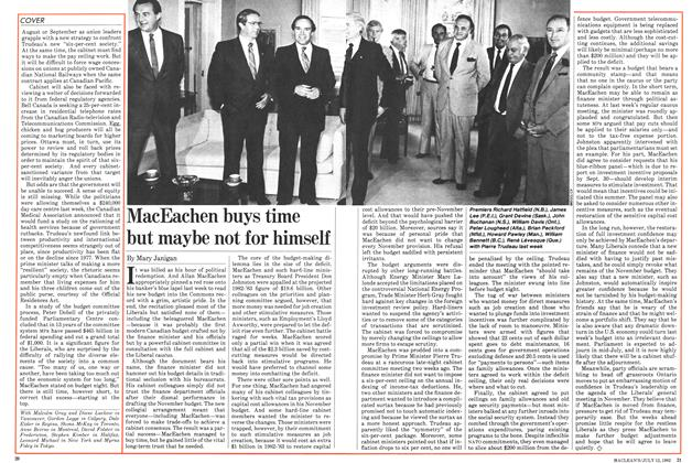 Article Preview: MacEachen buys time but maybe not for himself, July 1982 | Maclean's